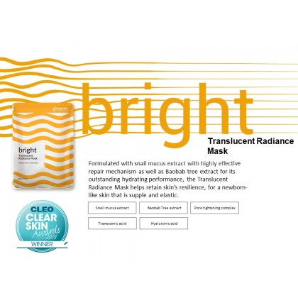 TTM Bright - Translucent Radiance Mask (5 Sheets)