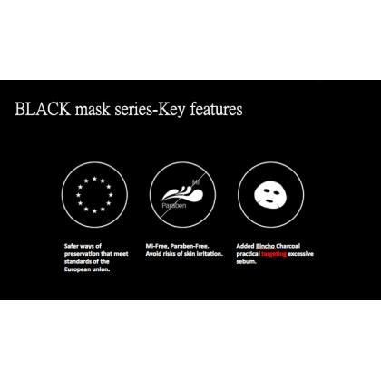 TTM Radiant Brightening Black Mask (5 Sheets)